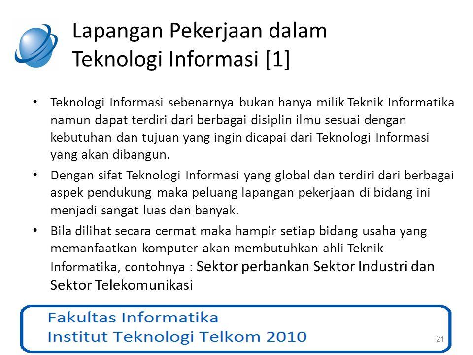 Lapangan Pekerjaan dalam Teknologi Informasi [1]